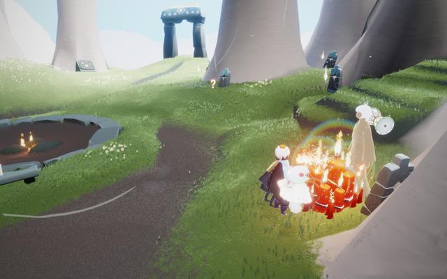 光遇2.23任务攻略:雨林梦想季蜡烛先祖位置和蓝色光芒位置大全[多图]图片2