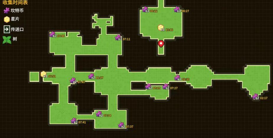 坎公骑冠剑花坛全收集三星攻略:花坛黄碎片紫币宝箱位置坐标大全[多图]