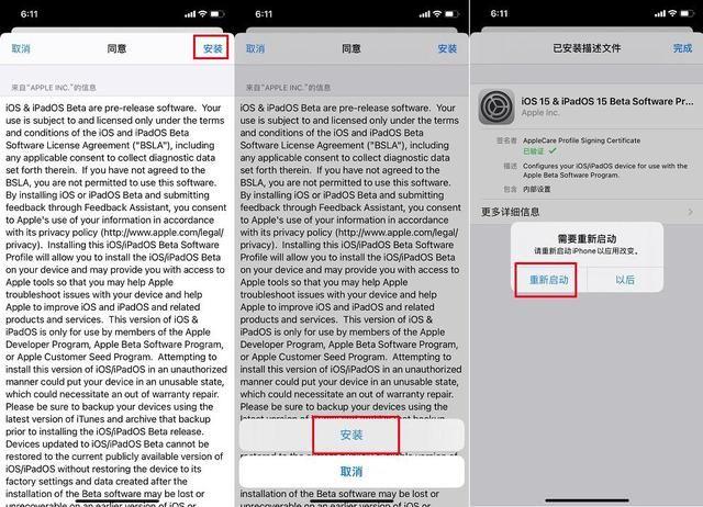 ios15更新升级教程,ios15测试版描述文件更新方法图文一览[多图]图片4