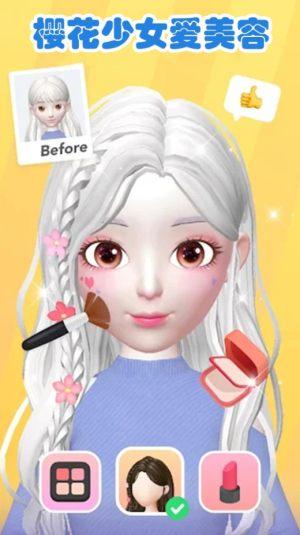 樱花少女爱美容游戏图1