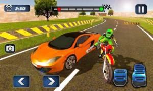 摩托车对决赛车游戏图2