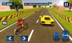 摩托车对决赛车游戏图3
