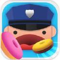 警察吃甜甜圈
