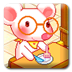 白耳鼠吃奶酪