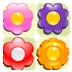 彩色花朵对对碰