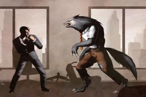 奇葩格斗游戏《经理大战狼人》宣传片[图]图片1