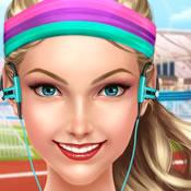 運動少女時尚裝扮