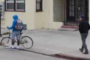 别当小偷了!街头偷自行车免费体验坐电椅