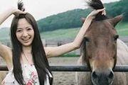 搞笑图片:感觉马儿的辫子比妹子的更飘逸![多图]