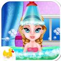 芭比公主游戲寶貝做spa