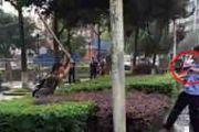 重庆1名男子持棒袭击路人 警方开枪将其制服[多图]